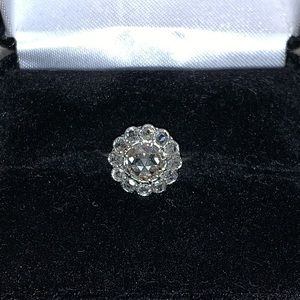 Showstopper Antique Dutch Rosecut Engagment Ring